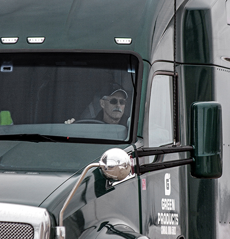 Greg Sharp with Green Products Company as an Iowa Truck Driver