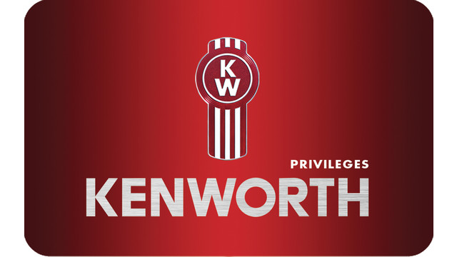 Kenworth Privileges Card Membership for Parts & Service Discounts