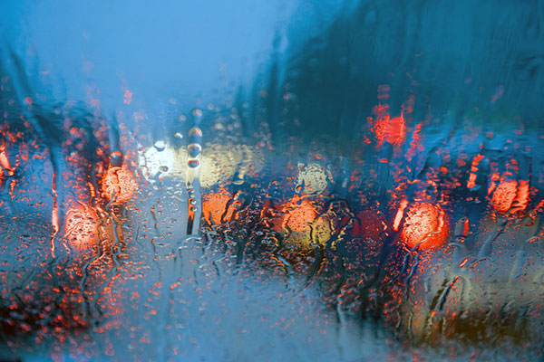Rainy windshield and truck safety tips