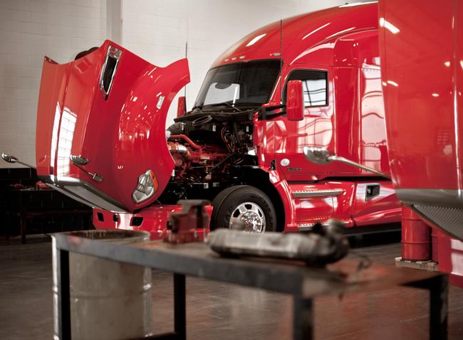 Service Shop Open Truck Hood