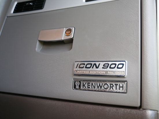Kenworth ICON 900 glove box badging