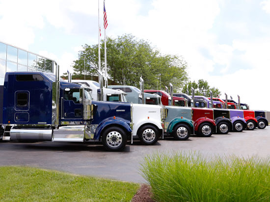 Kenworth ICON 900 trucks lineup
