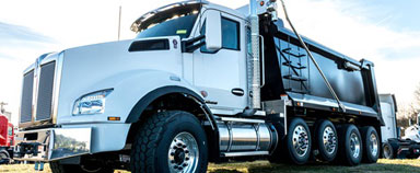 Kenworth T880 dump trucks stocked and ready to go to work at MHC