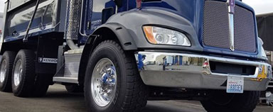 Kenworth T370 Wide Base Steer Tires Spec Option