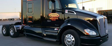 Paul Transportation in Tulsa, OK, standardized on the Kenworth T680 76-inch mid-roof sleeper truck