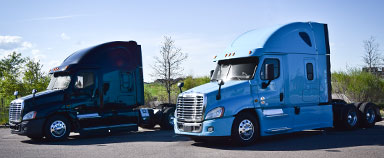 2014 Freightliner Cascadias for sale at MHC Kenworth in black and blue paint colors