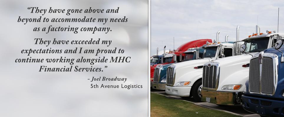 MHC Factoring - Customer Testimonials