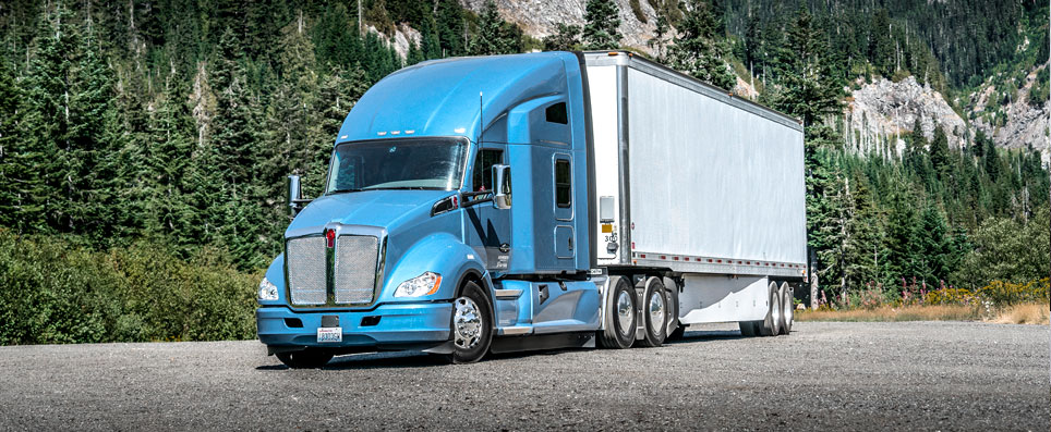 Kenworth T680 delivery truck