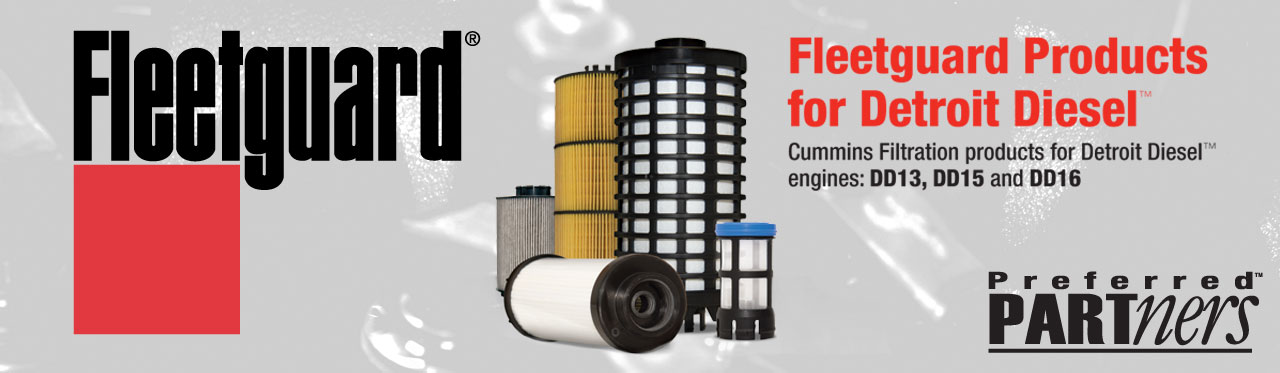 Fleetguard filtration products for Detroit Diesel