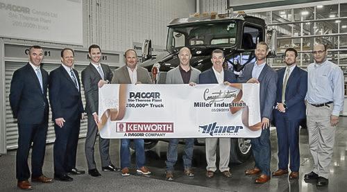 MHC Kenworth - Chattanooga Customer Miller Industries Receives Milestone 200,000th Kenworth T270