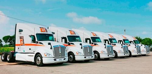 Big G Express Kenworth T680 trucks
