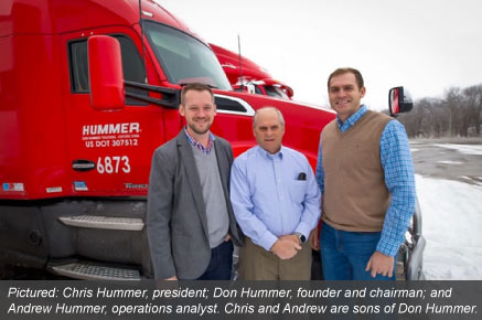 Pictured: Chris Hummer, president; Don Hummer, founder and chairman; and Andrew Hummer, operations analyst. Chris and Andrew are sons of Don Hummer.