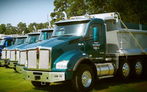 Jerry T. Bunn Trucking Kenworth T880s for North Carolina Aggregate Hauler
