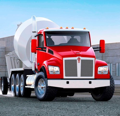 Kenworth T880S mixer construction truck