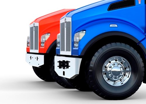 Kenworth T880s new bumper design