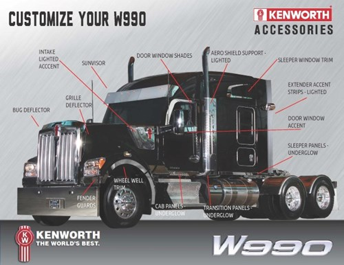 Kenworth W990 with new chrome options