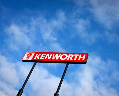 MHC Kenworth heavy and medium duty truck dealership sign