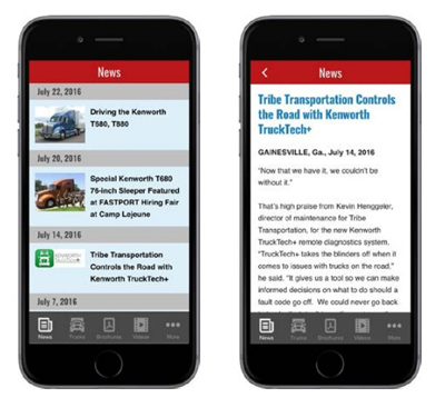Kenworth Mobile App for Android and Apple Devices