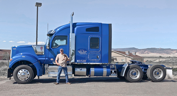 Kenworth W990 with Owner-Operator Larry Martin