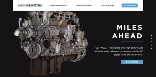 PACCAR Powertrain website