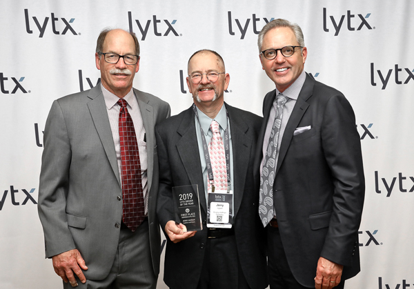 2019 Safe Driver of the Year Award from Lytx featuring MHC driver Jerry Ingram