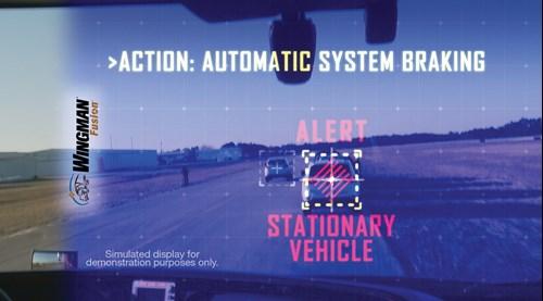 Bendix Wingman Technology simulation off fusions stationary vehicle alert