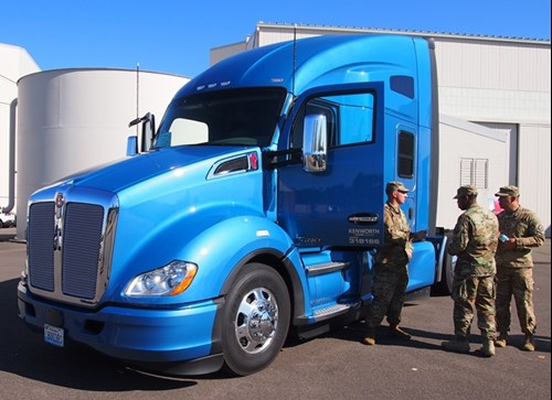 Kenworth has donated a T680 truck to the Hiring Our Heroes transition summit to support careers in trucking among service members.
