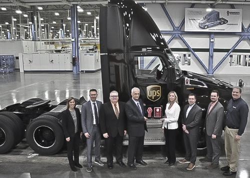 UPS Milestone PACCAR MX Engine Kenworth T680