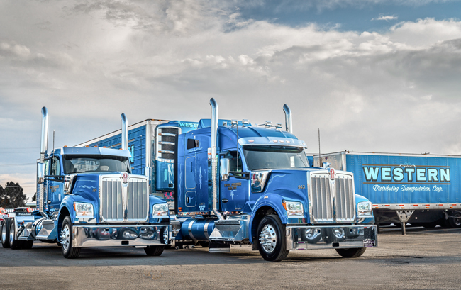 Western Distributing Kenworth W990s bought from MHC in Denver, CO